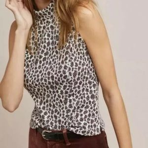 Anthropologie AKEMI + KIN Sleeveless Leopard Top